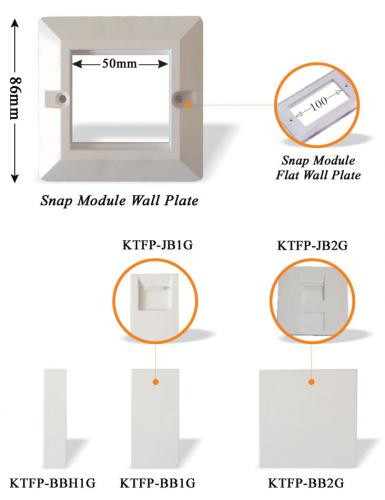 Snap Module Wall Plate & Bracket